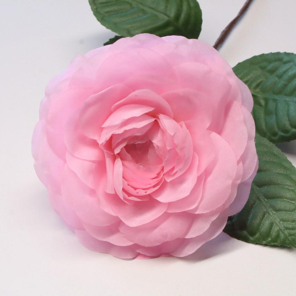 5 Pink Silk Camelia Flower Hat Trim