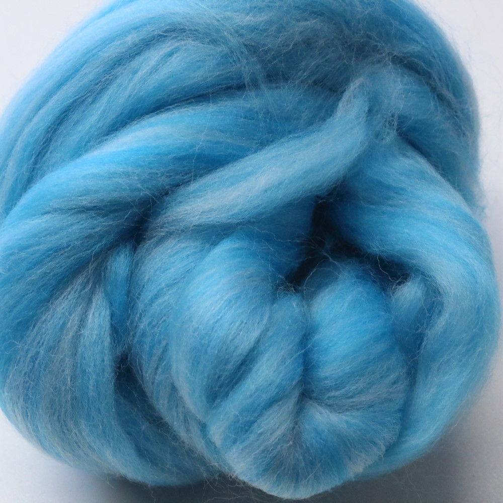 50g Pack of Tonal Aquas 23 Micron Merino Wool Tops