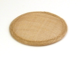 Beige Sinamay Hat Base in 2 Sizes