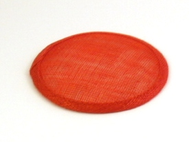 Red Sinamay Hat Base in 2 Sizes