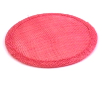 Cerise Sinamay Hat Base in 2 Sizes