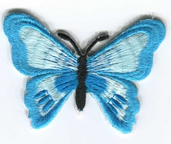 Medium Butterfly Iron-on Applique available in 3 colours