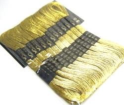 Gold Metallic Embroidery Thread 8m Skein