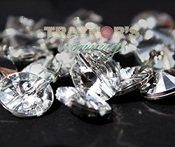 Round Crystal Shank 15mm Crystal Button