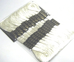 Silver Metallic Embroidery Thread 8m Skein